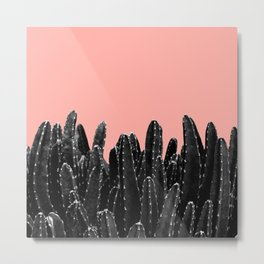 Black Cacti Dream #2 #minimal #decor #art #society6 Metal Print