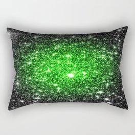 galAxy. Stars Lime Green Rectangular Pillow