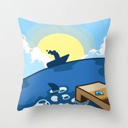(Version: Kanto) 005 - Vermillion Harbor Throw Pillow