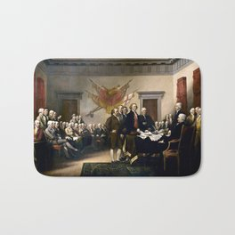 Signing The Declaration Of Independence Bath Mat