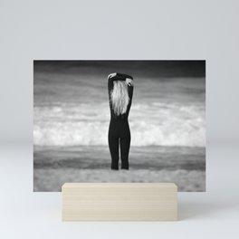 Surfer girl. Mini Art Print