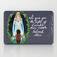 valar morghulis iPad Cases featuring The Light of Eärendil by Theresa Lammon