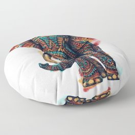 Ornate Elephant (Watercolor) Floor Pillow