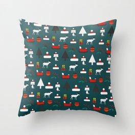 Christmas crowd Throw Pillow