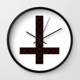 Black Inverted Cross Wall Clock