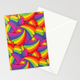 Rainbow Fan Pattern Stationery Cards