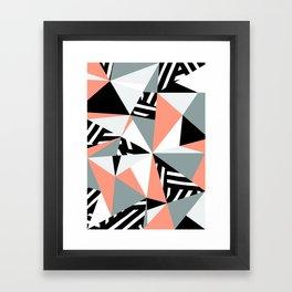 Modern Geometric 45 Pink Framed Art Print