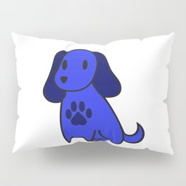 The Blue Dog With Paw Print Pillow Sham