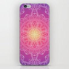 White Lace Mandala in Purple, Pink, and Yellow iPhone & iPod Skin