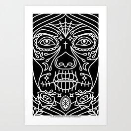 DIA DE LOS MUERTOS WOMAN Art Print