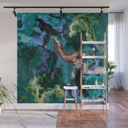 green blue marble Wall Mural