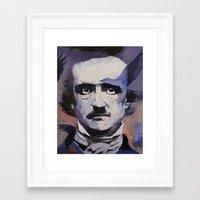 edgar allan poe Framed Art Prints featuring Edgar Allan Poe by Michael Creese