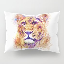 Lioness Head Pillow Sham