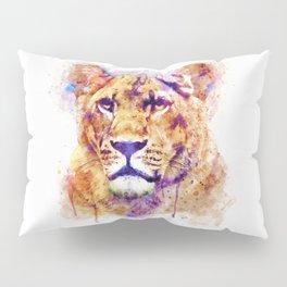 Lioness Head Pillow Sham