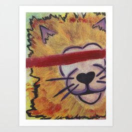 Save The Lions Art Print
