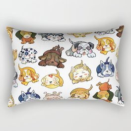 Kawaii Cute Dogs by dotsofpaint Rectangular Pillow