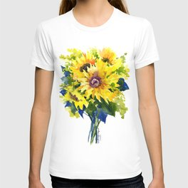 Colors of Summer, Sunflowers, Country style french country design T-shirt
