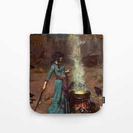 The Magic Circle John William Waterhouse Painting Tote Bag