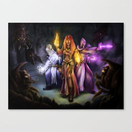 Three Mages Canvas Print