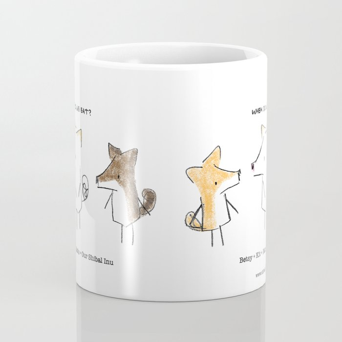 Our Shibal Inu - When do we eat? Coffee Mug