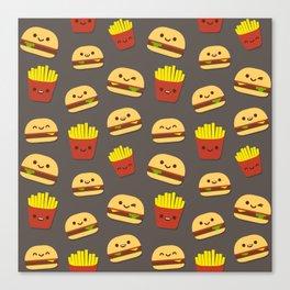Fastfood pattern Canvas Print