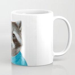 Raccoon wearing a pullover Coffee Mug