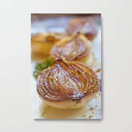 Caramelized Balsamic Onions Metal Print