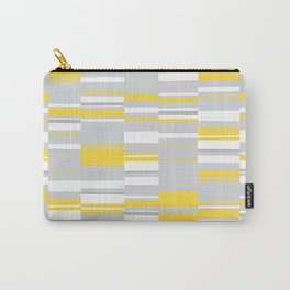 Mosaic Rectangles in Yellow Gray White #design #society6 #artprints Carry-All Pouch