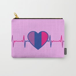 Bisexual Heartbeat Bisexual Gift Carry-All Pouch