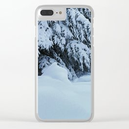 Snowdrifts After the Blizzard Clear iPhone Case