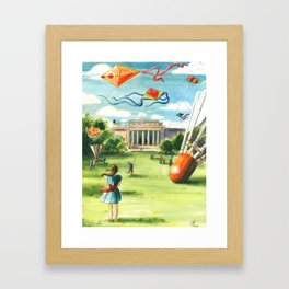 Flying Kites Framed Art Print