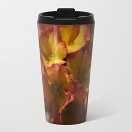 primroses on ancient texture -2- Travel Mug