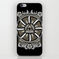 all seeing eye iPhone & iPod Skins featuring All Seeing Eye by Pancho the Macho