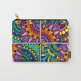 Color Block Puzzle Mandalas Carry-All Pouch