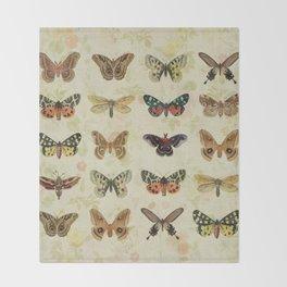 Moths & Butterflies Throw Blanket
