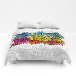 EscherFishes Comforters