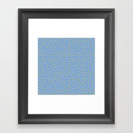 Yellow Pit on Blue /// www.pencilmeinstationery.com Framed Art Print