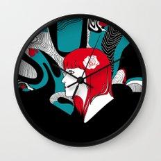 Red Head Wall Clock