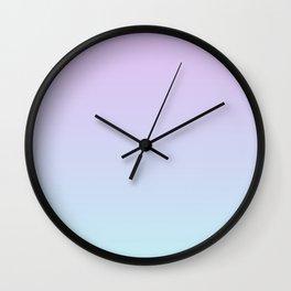 Pastel Violet Mint Gradient Wall Clock