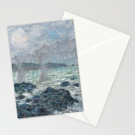 Fishing Nets at Pourville by Claude Monet Stationery Cards