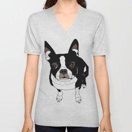 Boston Terrier Cutie Unisex V-Neck