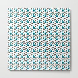 Cenozoic Extinction Event Pattern Metal Print
