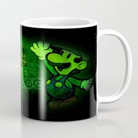 luigi Mugs featuring Luigi - Support the Underdog by Donkey Inferno