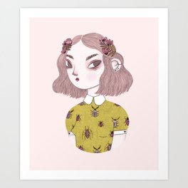 Bug Girl Art Print
