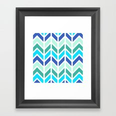 SPRING CHEVRON 2 Framed Art Print
