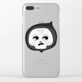 skull smirk Clear iPhone Case