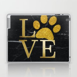 Love is a Four Letter Word - Black and Gold Laptop & iPad Skin