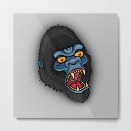 Traditional Angry Gorilla  Metal Print
