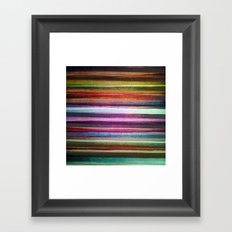 Happy rainbow water colors Framed Art Print