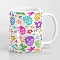 sugar skulls Mugs featuring Sugar Skulls by Emmyrolland